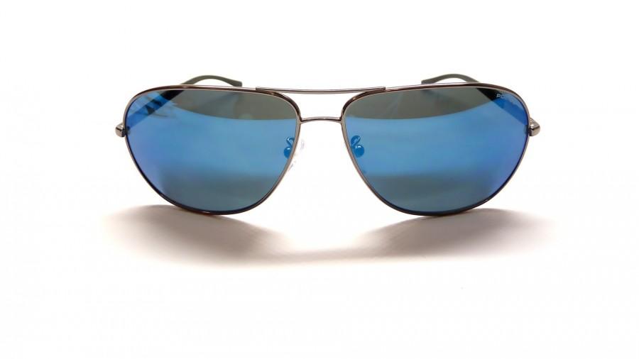 Lunettes de soleil police s 8651 568b bleu verres miroirs for Lunette soleil verre bleu miroir