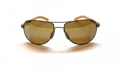 Lunettes de soleil Maui Jim Guardrails 327 23 Brun et Verres bruns Polarized, miroirs et antireflets