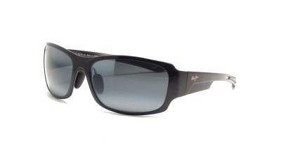 Maui Jim Bamboo Forest 415 02J Noir brillant dégradé Verres gris polarisés et miroirs 158,25 €