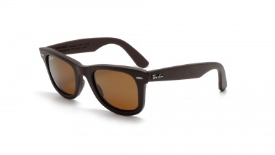 Ray-Ban Original Wayfarer Genuine Leather Braun RB2140QM 1153/N6 50-22 Polarisierte Gläser 158,25 €