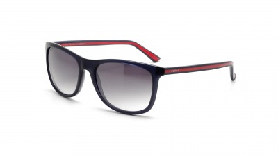 Gucci Ruban Rouge GG 1055 S 0VR 89 Bleu Verres dégradés  115,75 €