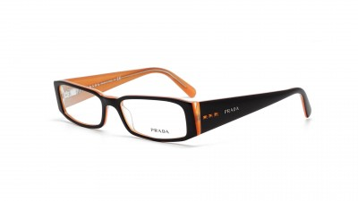 Prada PR 10FV 2BX 1O1 Noir et orange Medium 41,67 €