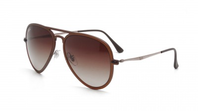 Ray-Ban Aviator Light Ray Braun Matt RB4211 6122/13 56-17 100,75 €