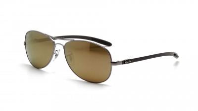 Ray-Ban Fibre Carbon Silber RB8301 004/N3 59-14 Polarisierte Gläser 133,78 €