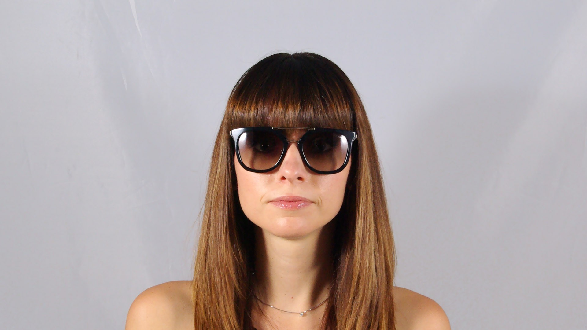 cfab015d0c4091 Sonnenbrillen Prada Cinema PR 13QS 1AB-0A7 Schwarz Gradient Gläser Medium