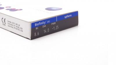 Lentilles de contact Biofinity Mensuelles 6L