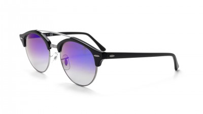 Ray-Ban Clubround Double Bridge Schwarz RB4346 62507Q 51-19 91,58 €