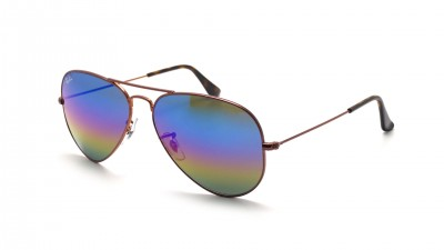 Ray-Ban Aviator Large Metal Rainbow Braun Matt RB3025 9019/C2 58-14 87,42 €