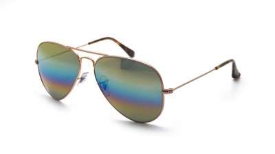 Ray-Ban Aviator Large Metal Rainbow Gold Matt RB3025 9020/C4 58-14 87,42 €