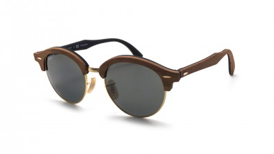 Ray-Ban Clubround Wood Braun Matt RB4246M 118158 51-19 Polarisierte Gläser 171,58 €