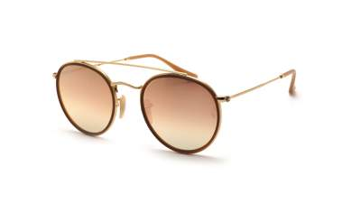 Ray-Ban Round Double Bridge Golden RB3647N 001/7O 51-22 Gradient 91,58 €