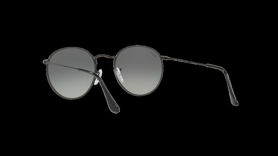 RAY BAN RAY-BAN Damen Sonnenbrille »ROUND METAL RB3447N«, schwarz, 002/71 - schwarz/grau