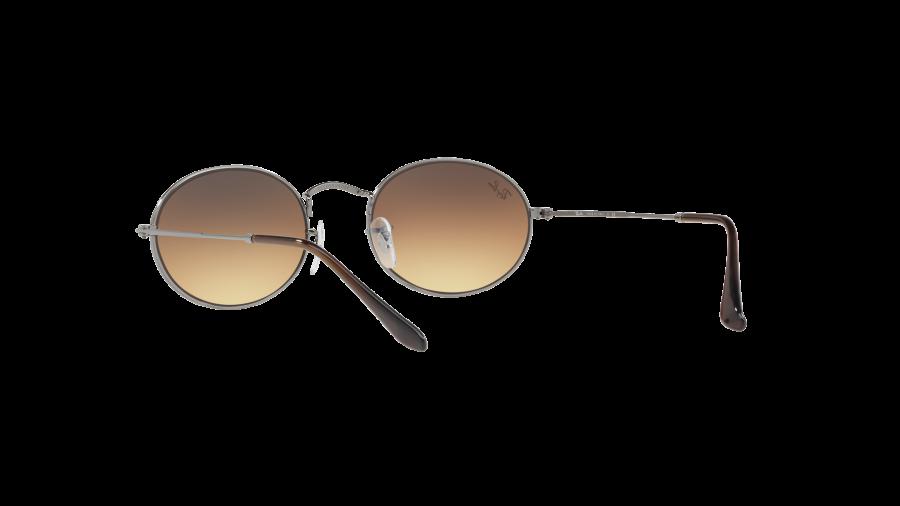 RAY BAN RAY-BAN Sonnenbrille »Oval RB3547N«, grau, 004/51 - grau/braun