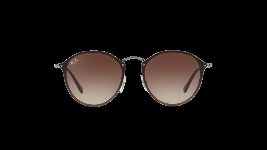 RAY BAN RAY-BAN Damen Sonnenbrille »Blaze Round RB3574N«, grau, 004/13 - grau/braun