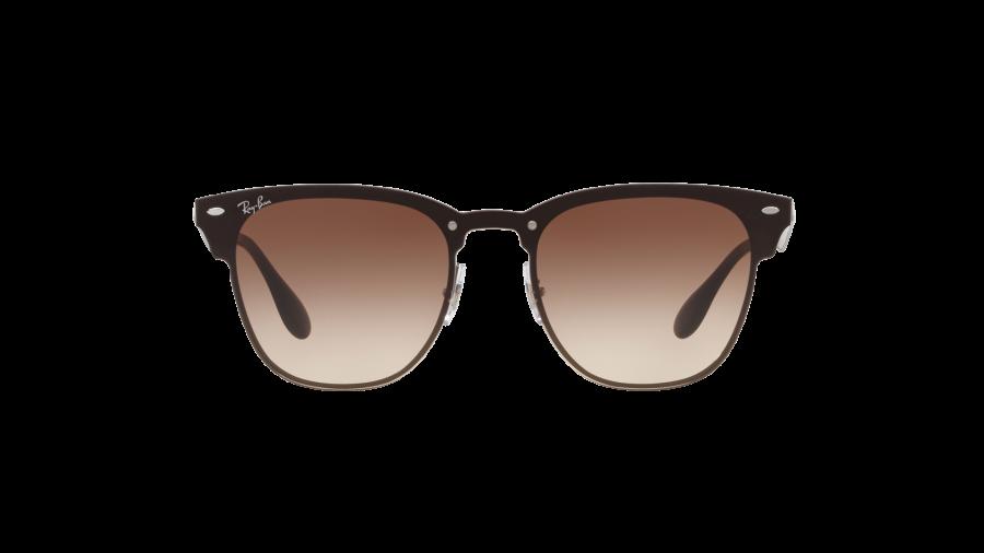 RAY BAN RAY-BAN Sonnenbrille »Blaze Clubmaster RB3576N«, grau, 041/13 - grau/braun