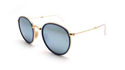Ray-Ban Round folding Flash lenses Blau RB3517 001/30 51-22 154,60 €