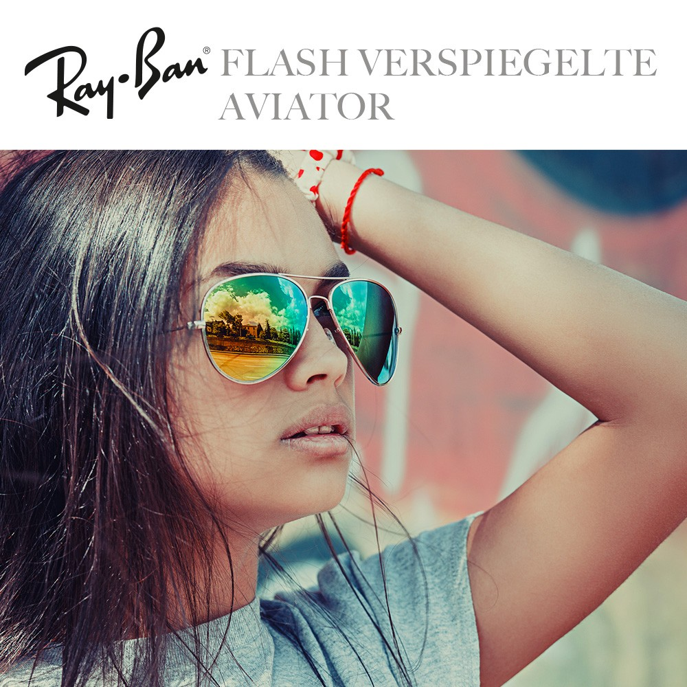 Ray-Ban Sonnenbrillen Flash verspiegelte Aviator